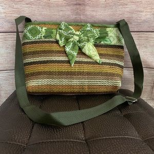 Cross Stitch Rope Crossbody Bag